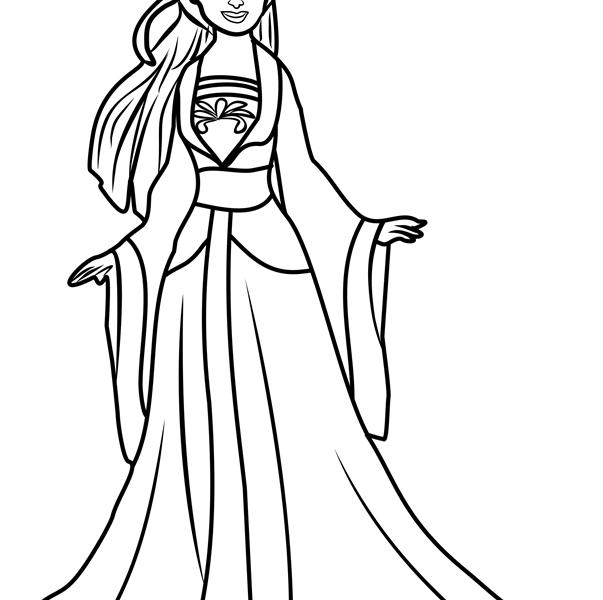 Disney Princess Coloring Pages Mulan At Getdrawings Com Free For