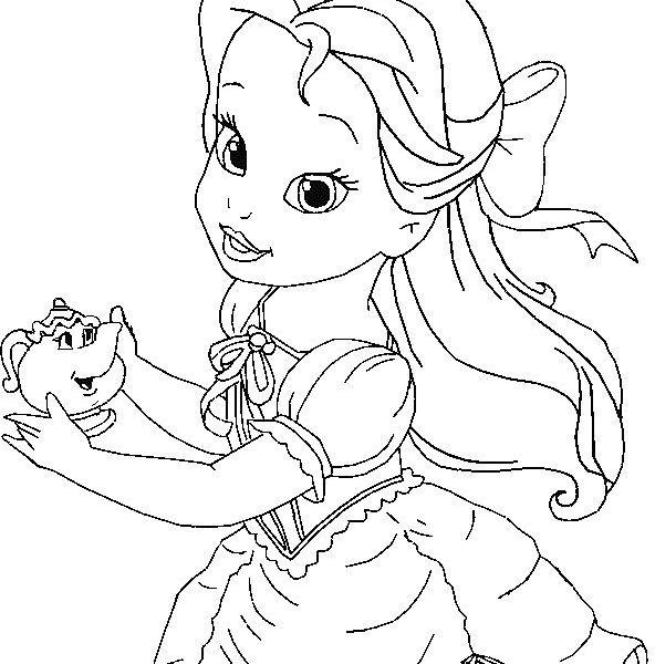 592x600 Baby Disney Princess Coloring Pages Ba Disney Princess Coloring