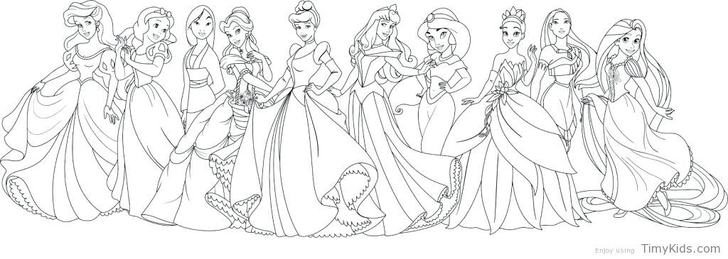 Disney Princess Coloring Pages Pdf At Getdrawings Com Free For
