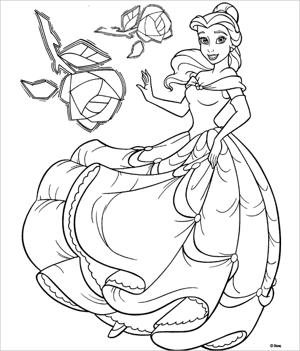 Disney Princess Coloring Pages Pdf At Getdrawings Com Free