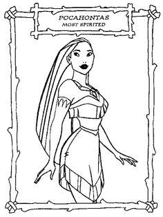 Disney Princess Coloring Pages Pocahontas At Getdrawings Com Free