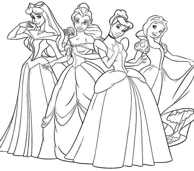 Disney Princess Coloring Pages Printable At Getdrawings Free Download