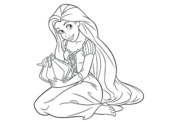 600x429 Coloring Pages Princesses