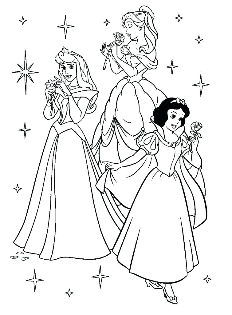 755x1024 Princess Coloring Pages Printable Free