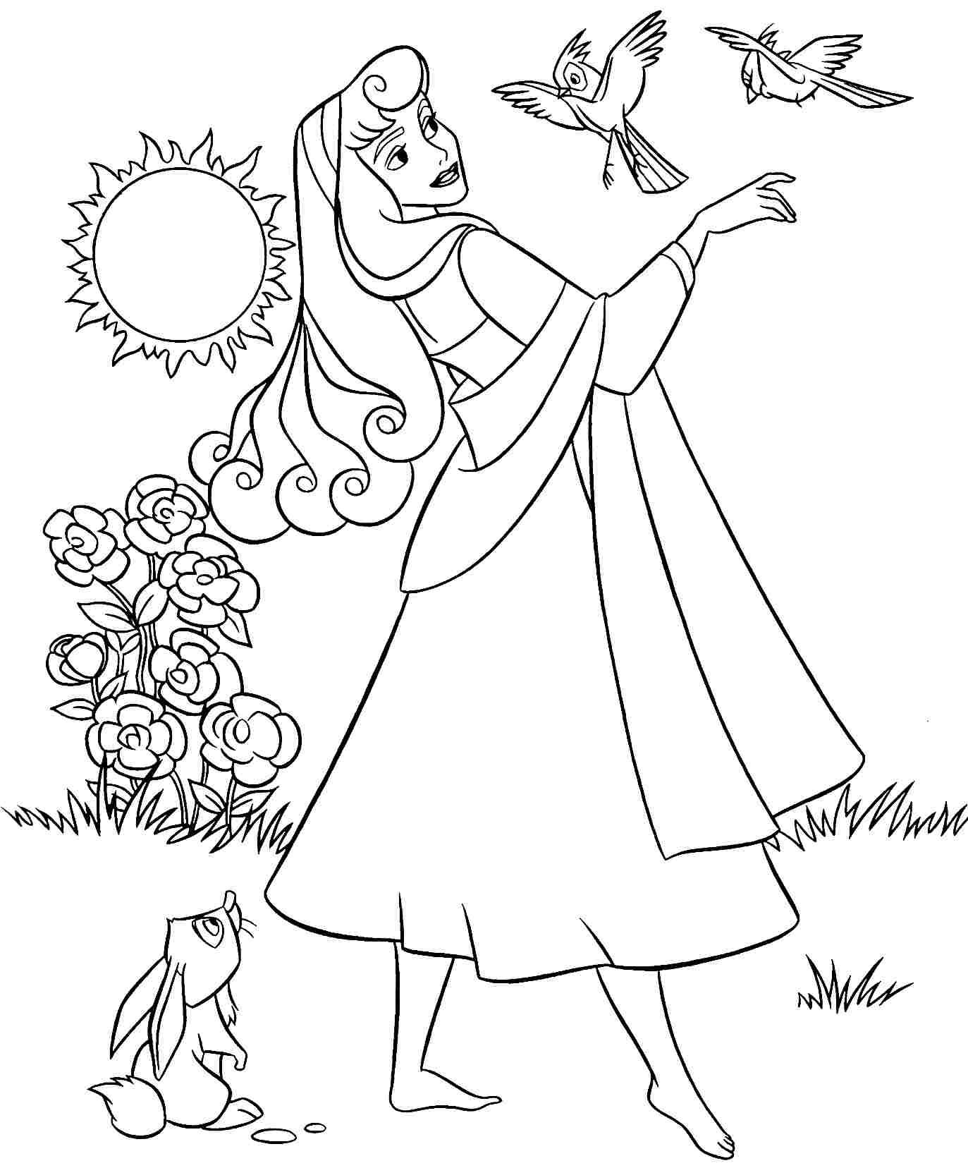 Ariel Aurora Sleeping Beauty Ariel Aurora Disney Princess Coloring Pages All Round Hobby