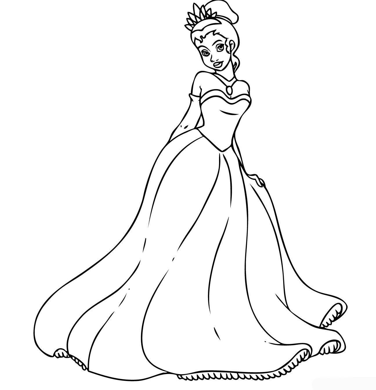 Disney Princess Coloring Pages Tiana
