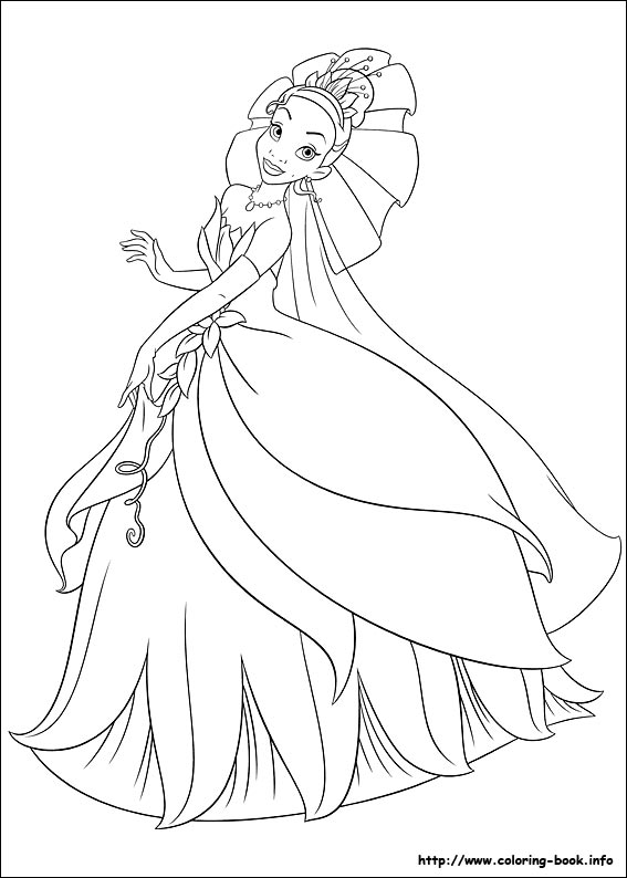 Disney Princess Coloring Pages Tiana At Getdrawings Com