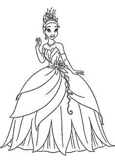 Disney Princess Coloring Pages Tiana At Getdrawings Free Download
