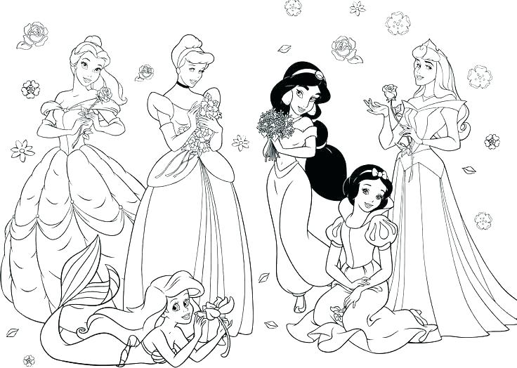 736x524 Princess Coloring Pages Great Barbie Princess Coloring Page New