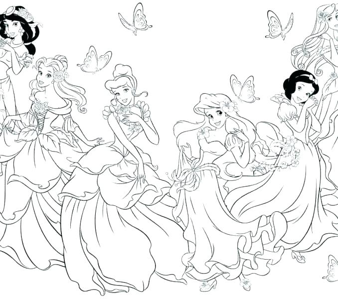 678x600 Princess Coloring Pages Online Princess Colouring Pages Online