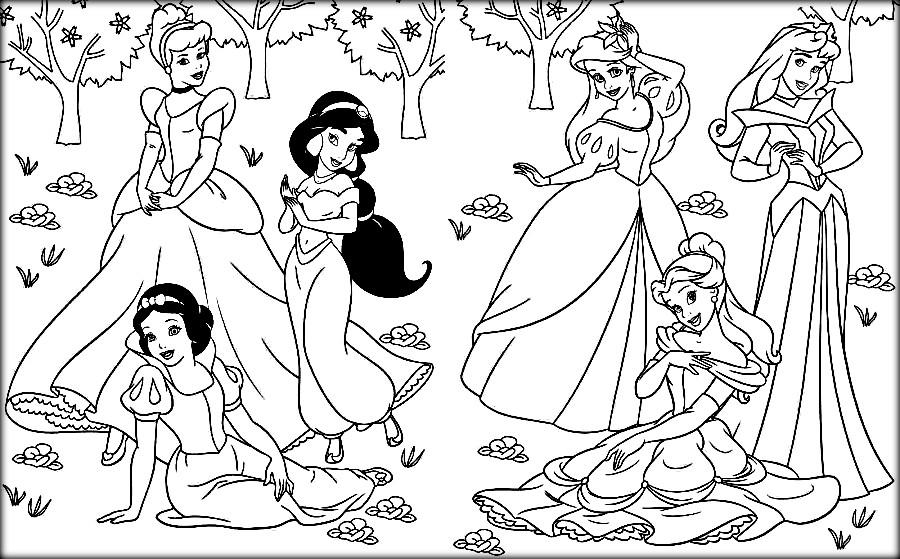 Disney Princess Coloring Pages To Print At Getdrawings Free Download
