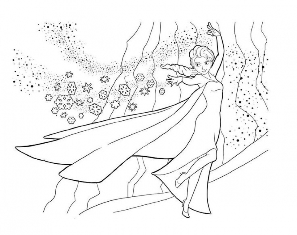 It is a graphic of Printable Elsa Coloring Pages throughout free printable