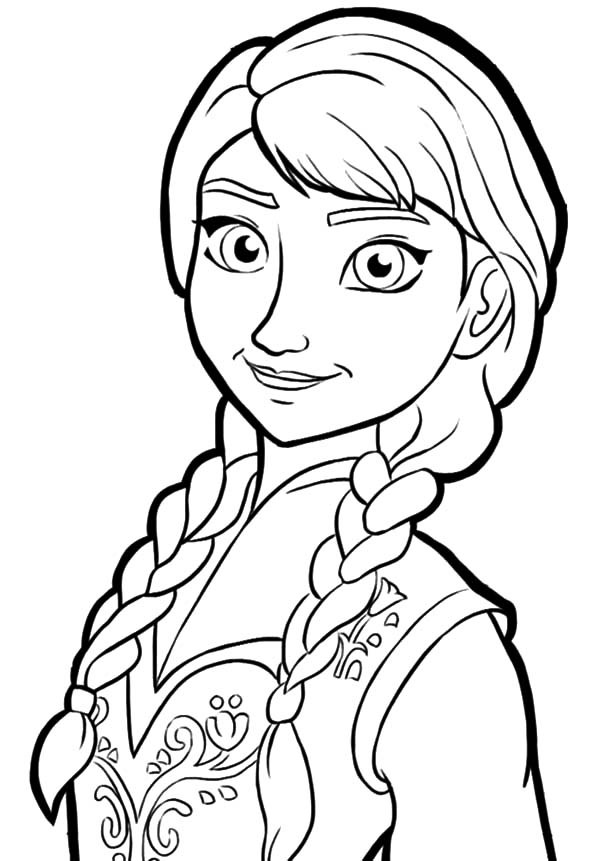 600x861 Anna From Frozen Coloring Pages Vitlt Com Regarding Princess