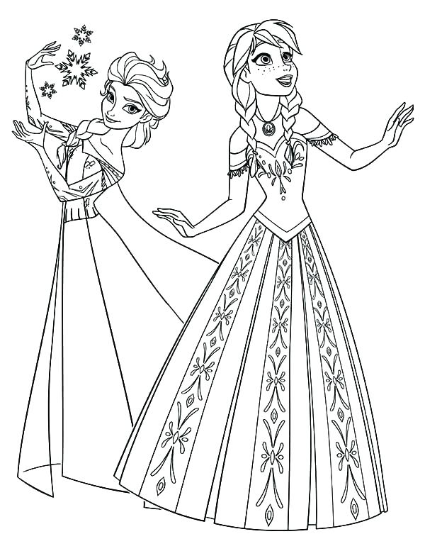 600x753 Disney Frozen Elsa Coloring Pages Draw Background With Princess