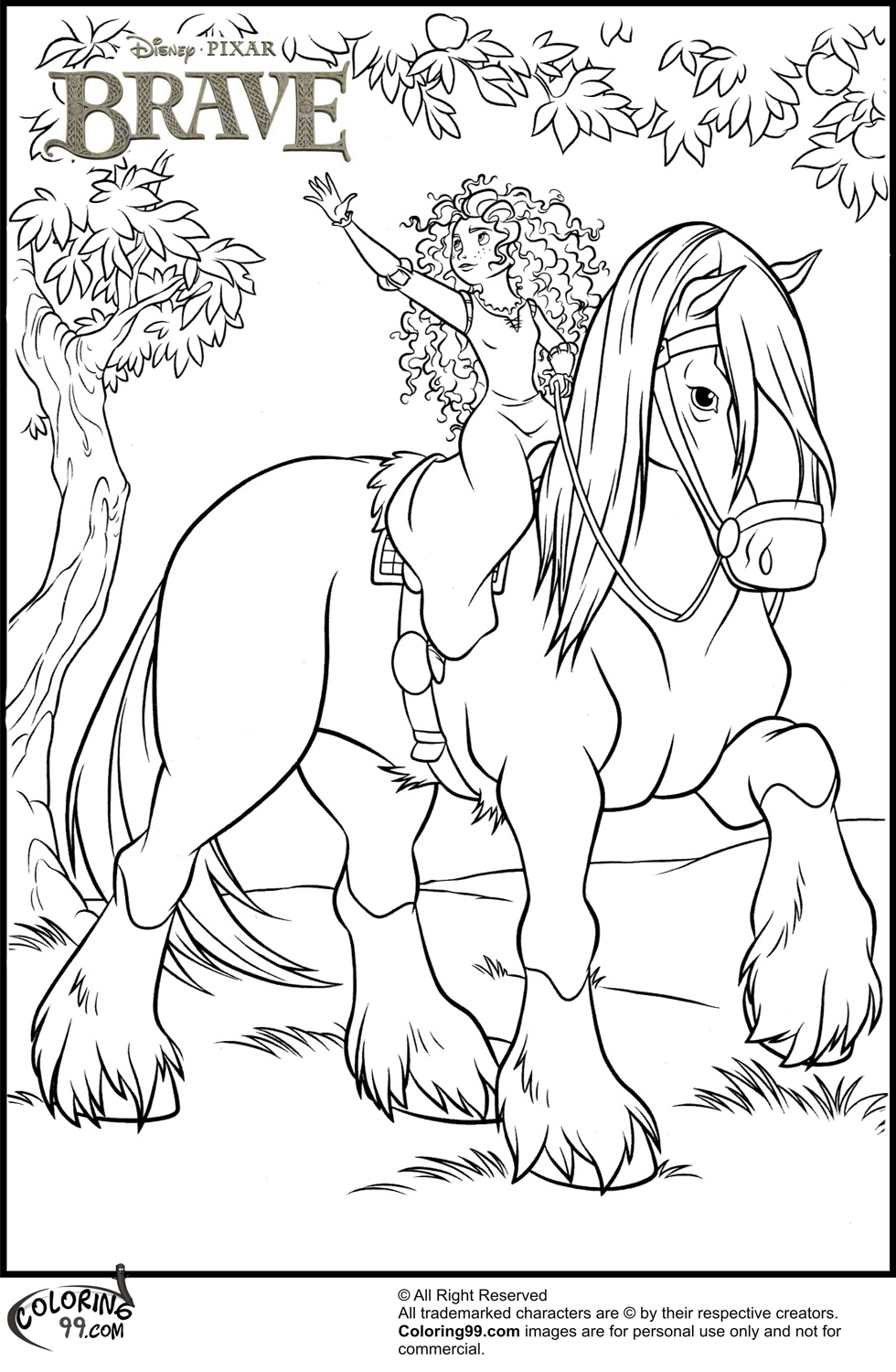 980x1500 Disney Princess Merida Coloring Pages Minister Coloring