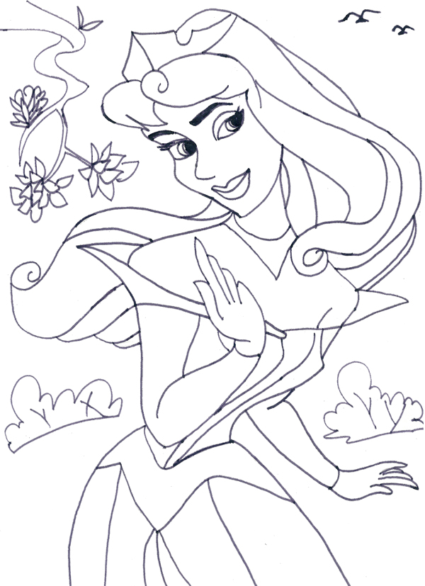 600x827 Free Printable Disney Princess Coloring Pages For Kids