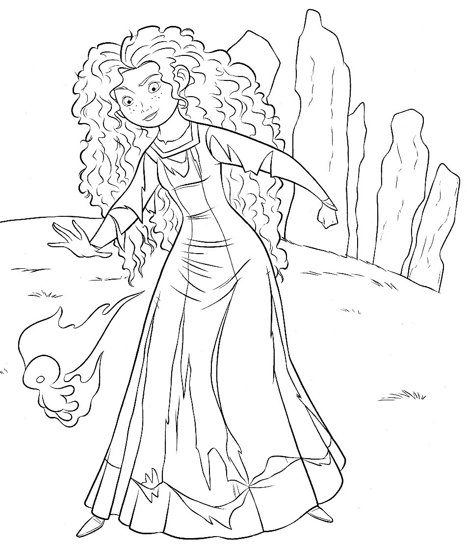 952x1109 Marvelous Disney Infinity Coloring Pages With Brave Lovely