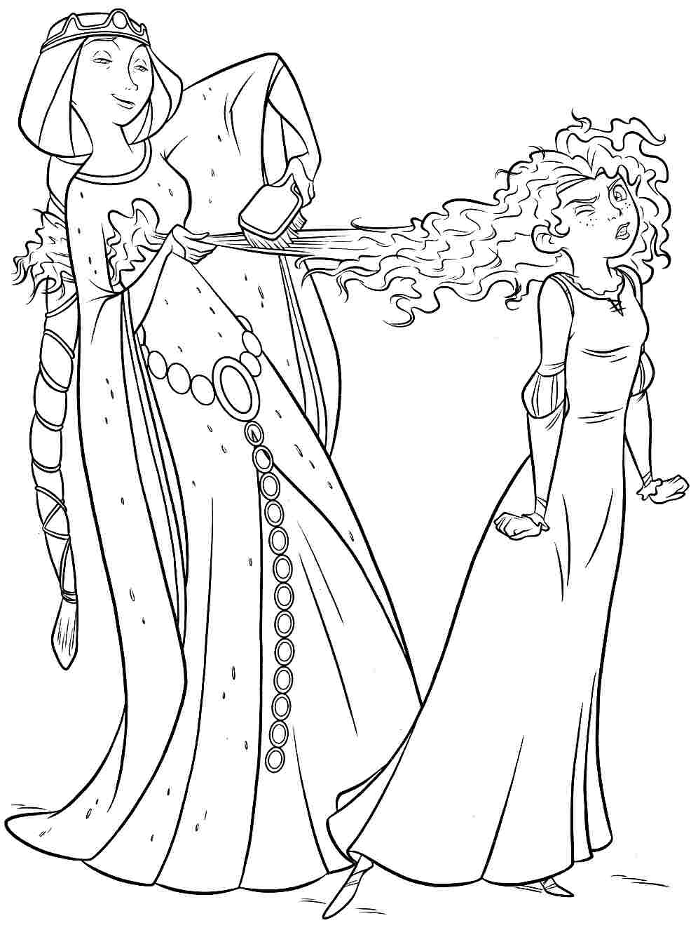 996x1326 Merida Coloring Pages