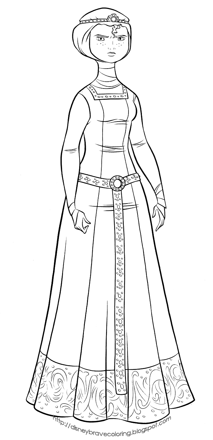683x1412 Brave Merida Coloring Pages