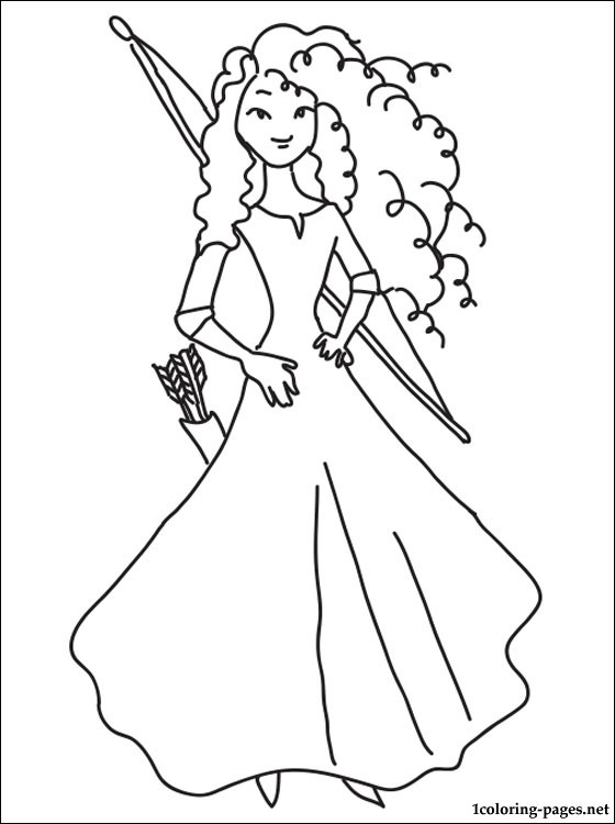 560x750 Princess Merida Coloring Page Coloring Pages