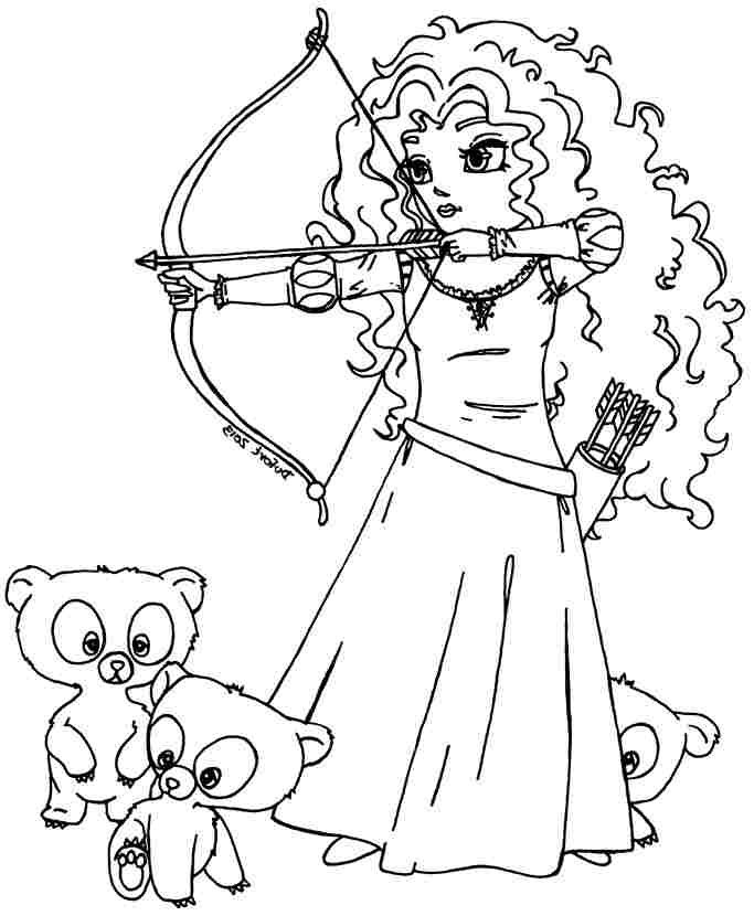 683x830 Printable Coloring Pages Disney Princess Merida Brave For Little