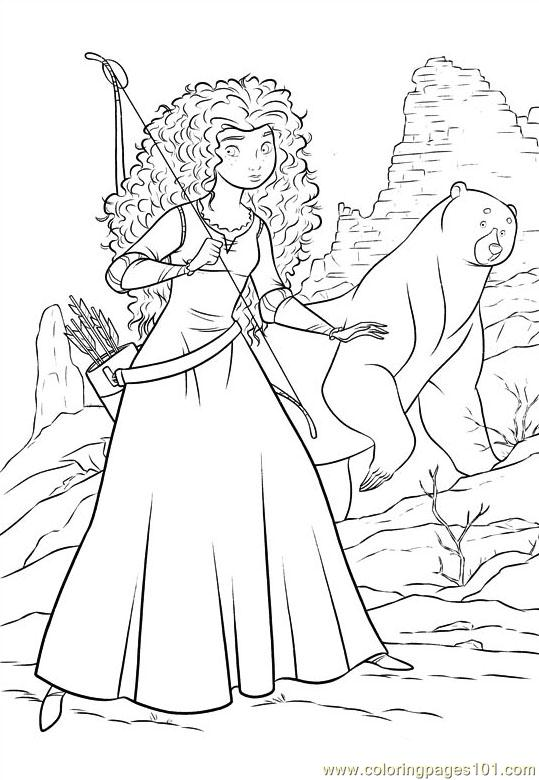 539x780 Brave Coloring Page