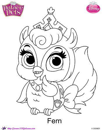 350x452 Free Princess Palace Pets Fern Coloring Page Palace Pets, Fern