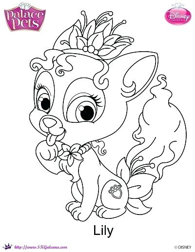 400x517 Pets Coloring Pages Princess Palace Pets Lily Coloring Page