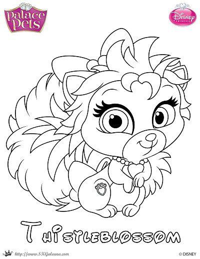 400x517 Princess Palace Pets Coloring Page Of Thistleblossom Palace Pets