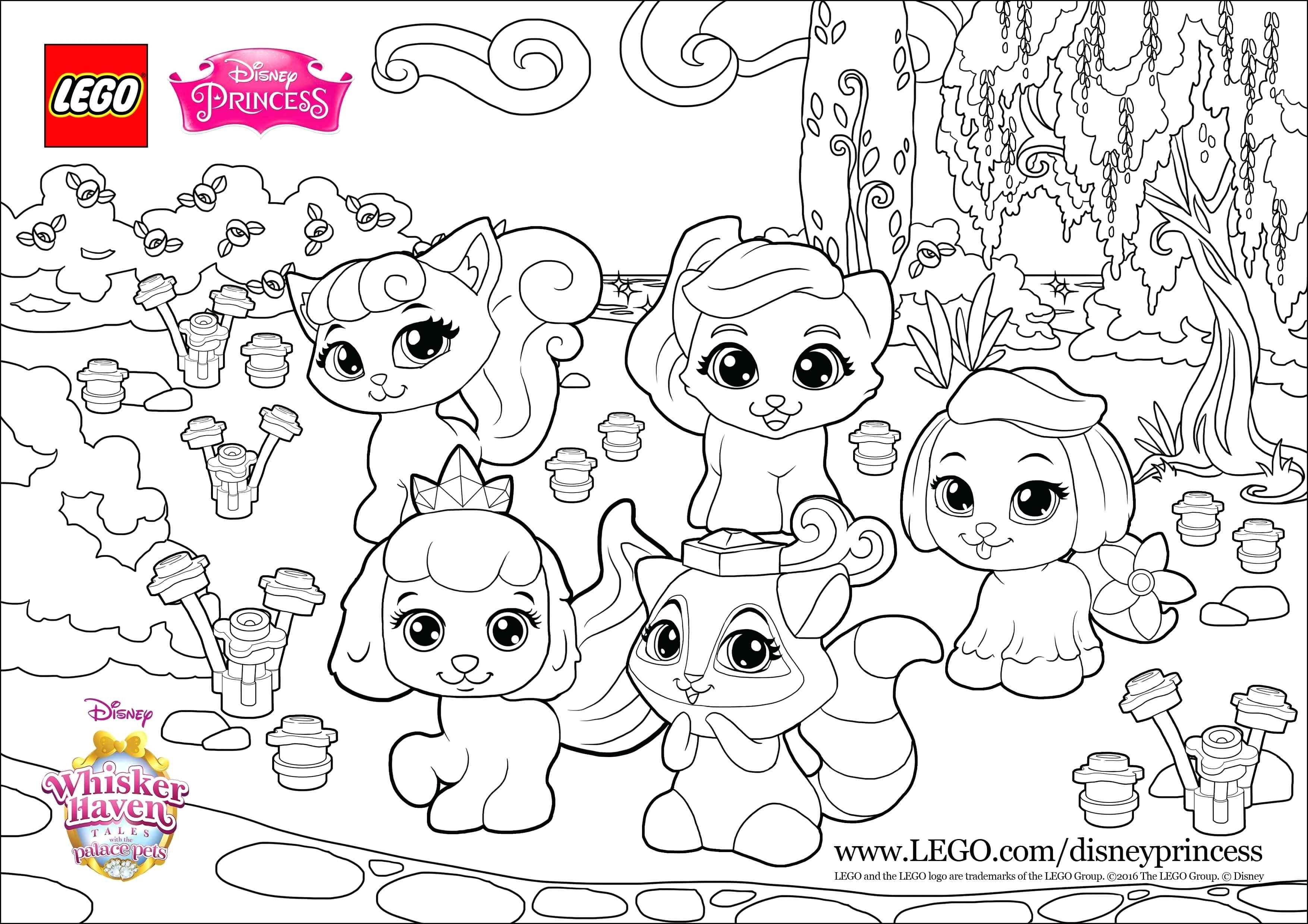 Disney Princess Pets Coloring Pages