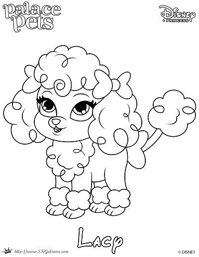 400x517 Free Coloring Page Featuring Lacy From Disney's Princess Palace