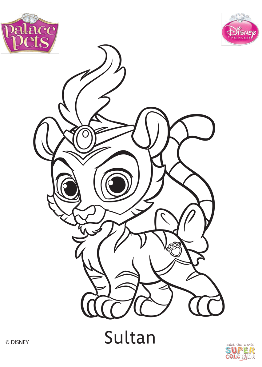 852x1193 Palace Pets Coloring Pages