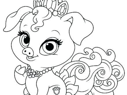 440x330 Disney Princess Palace Pets Coloring Pages Palace Pets Coloring