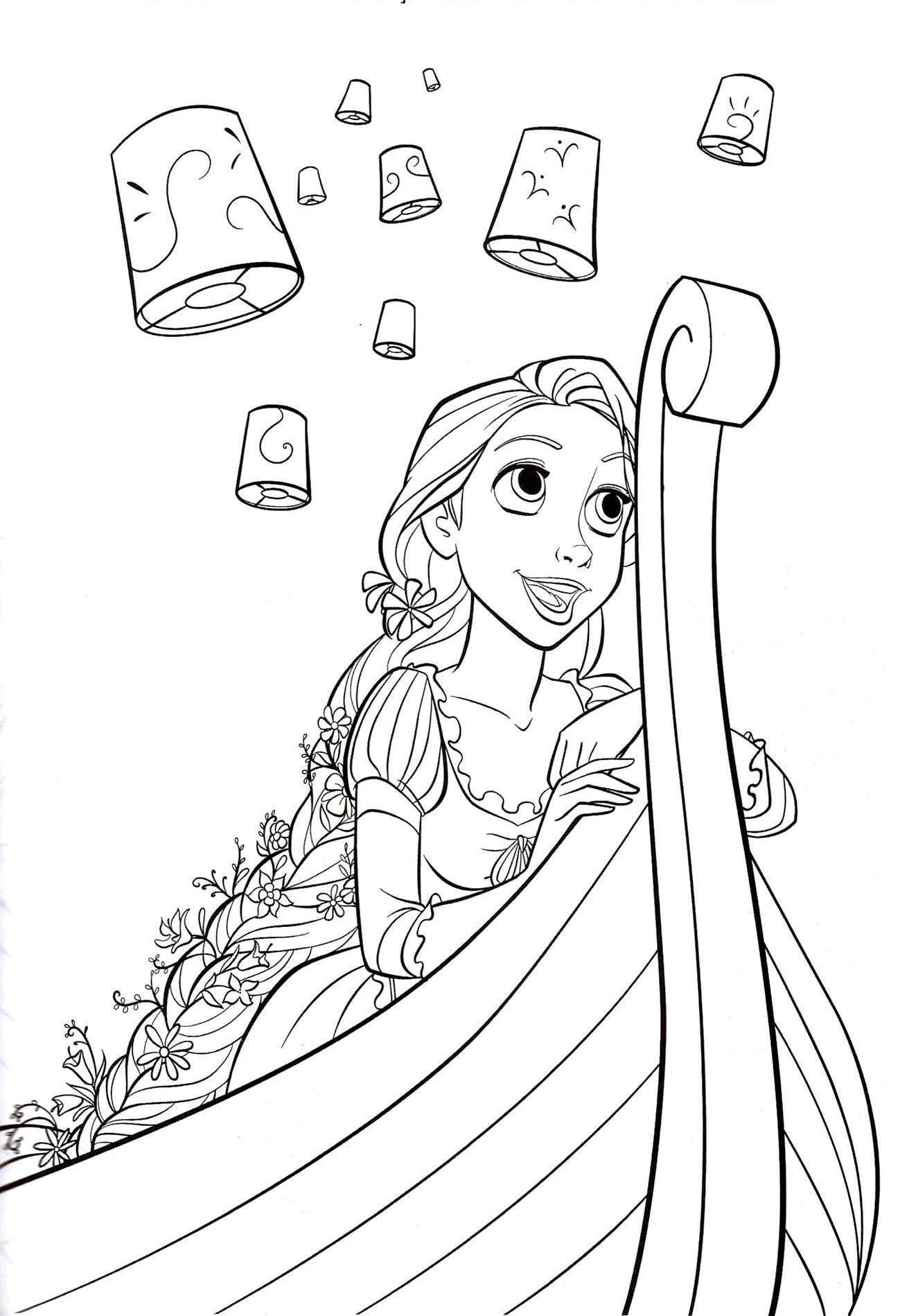 Disney Princess Tangled Coloring Pages At GetDrawings