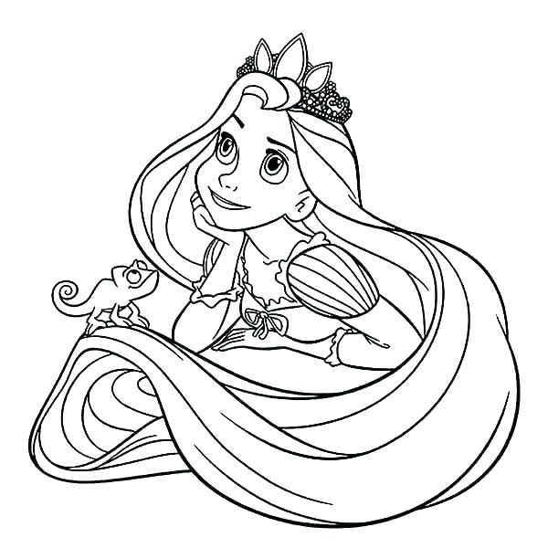 Disney Princess Tangled Coloring Pages At Getdrawings Com Free For