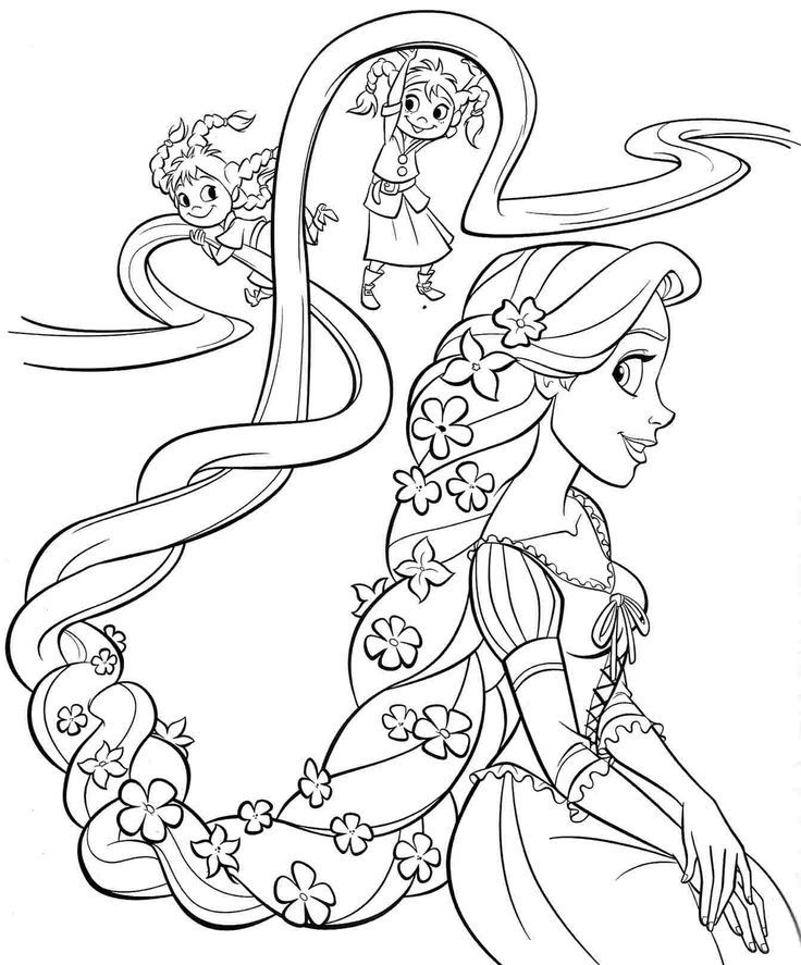 736x887 Printable Free Disney Princess Rapunzel Coloring Sheets For Kids