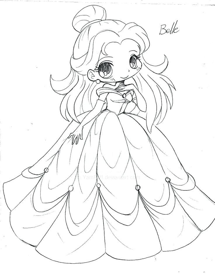 736x941 Disney Princesses Coloring Pages Anime Princess Coloring Pages