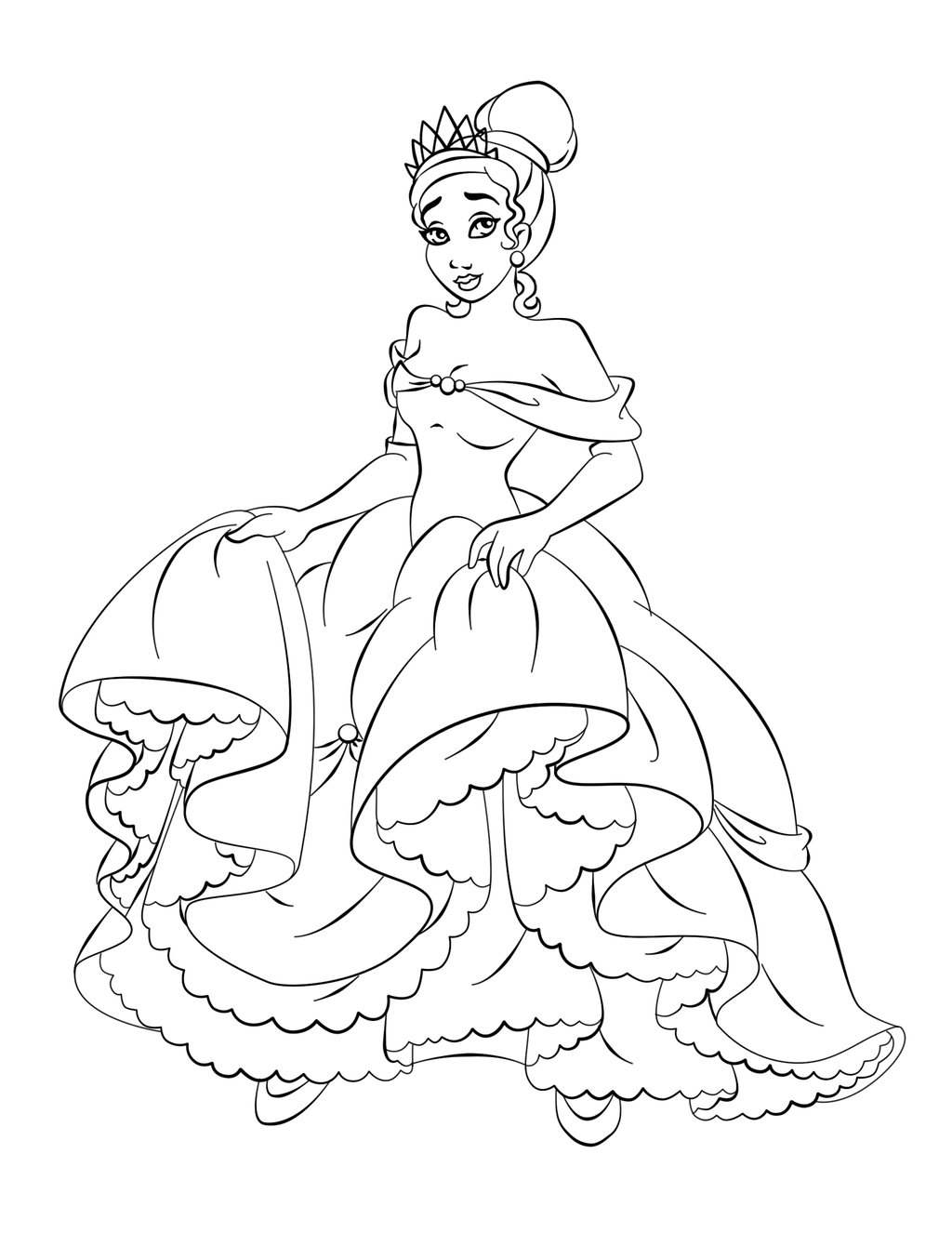 1024x1326 Free Printable Princess Tiana Coloring Pages For Kids