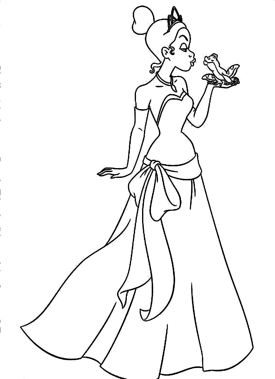 900x1240 Princess And The Frog Coloring Pages