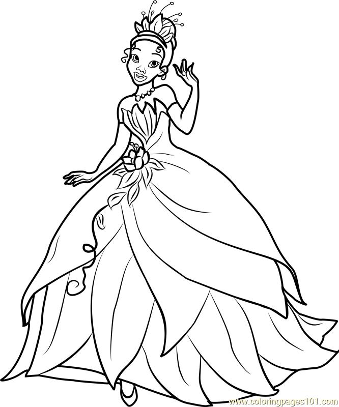 666x800 Princess Tiana Coloring Page