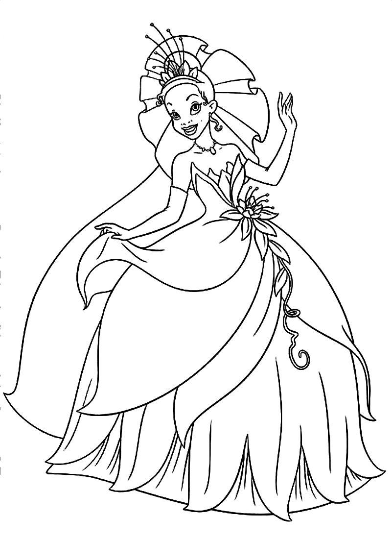801x1104 Princess Tiana Coloring Pages