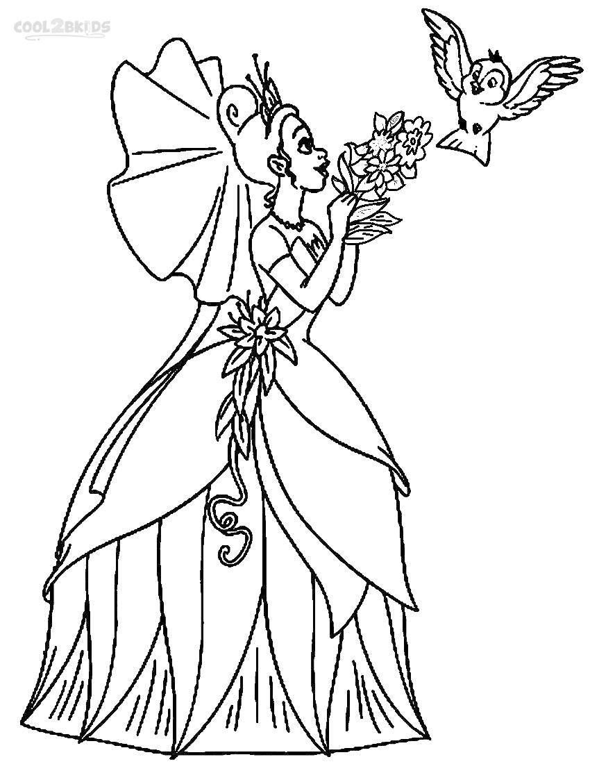850x1100 Printable Princess Tiana Coloring Pages For Kids
