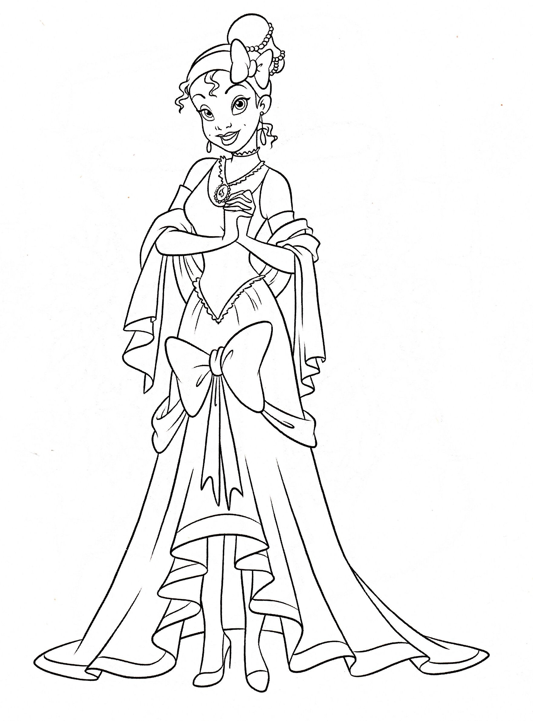 1764x2387 This Beautiful Tiana The Princess Coloring Page From Princess