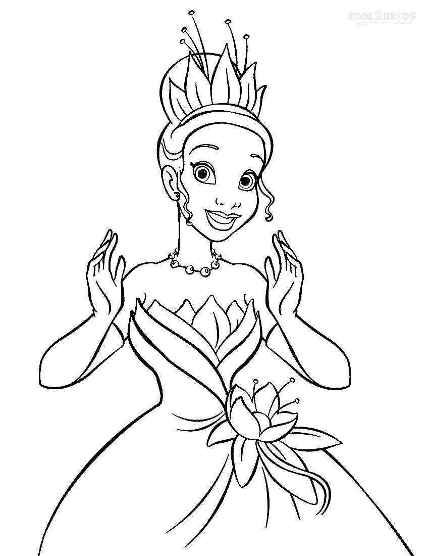 850x1100 Unique Disney Princess Coloring Pages Tiana Gallery Printable