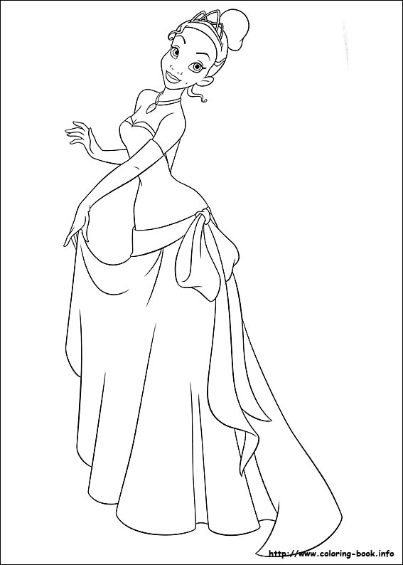 567x794 Disney Princess Tiana Coloring Pages The Princess And The Frog