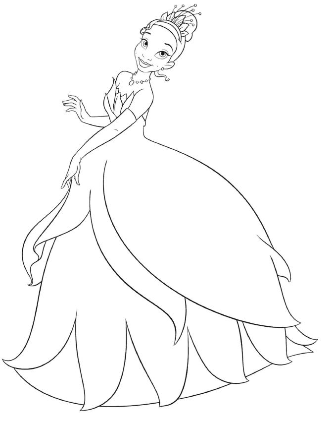 673x857 Disney Princess Tiana Coloring Pages To Print