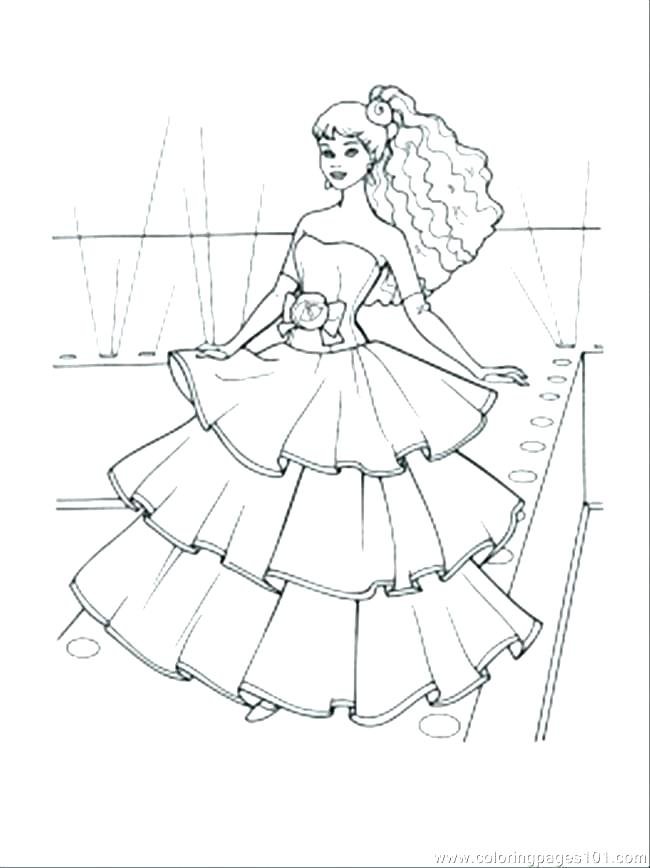 650x868 Dress Coloring Page Doll Dress Designing Doll Dress Coloring Pages