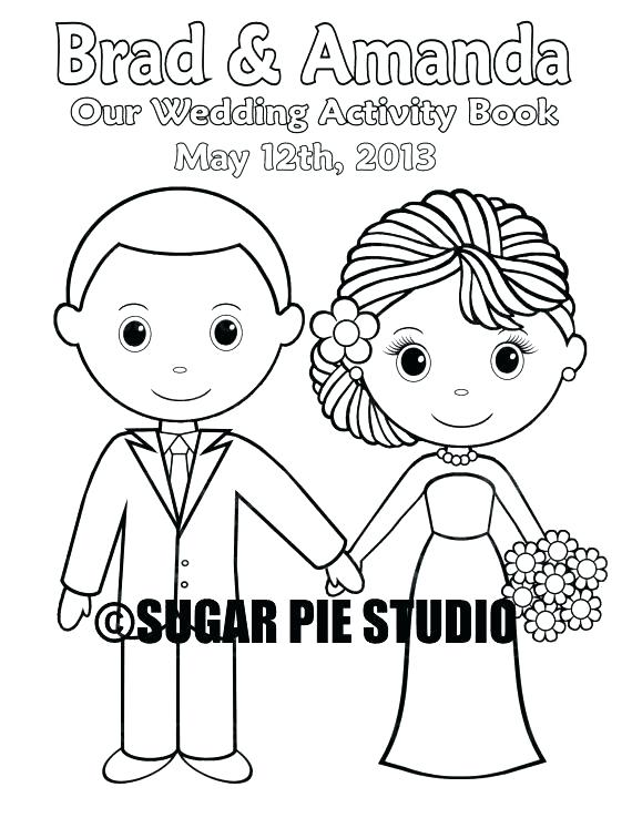 570x738 Wedding Coloring Pages Custom Wedding Coloring Book Miss Wedding