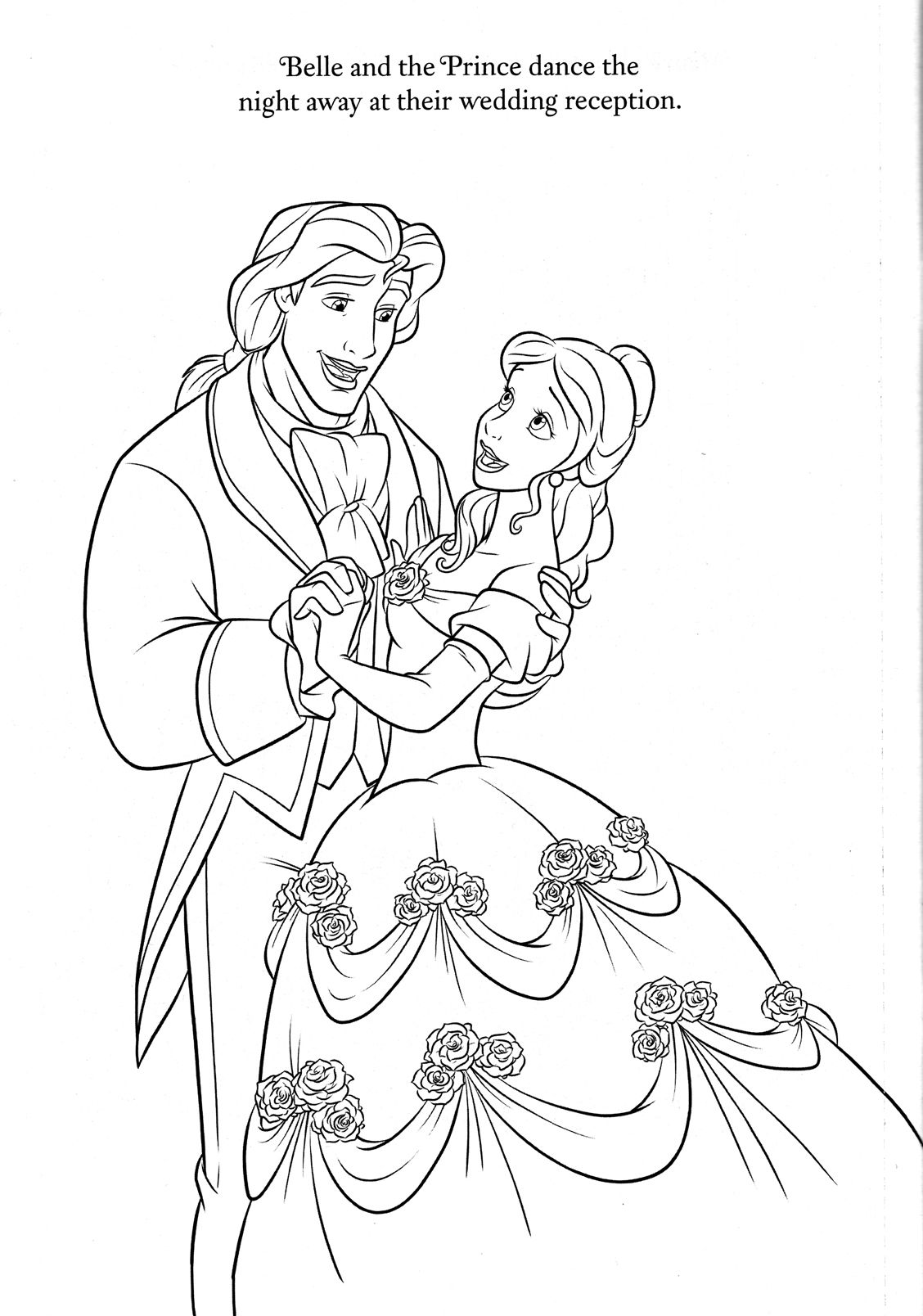 1128x1608 Beauty And The Beast, Coloring Pages Disney