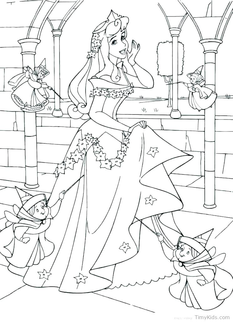 744x1024 Coloring Pages Sleeping Beauty Maleficent With Cane Princess